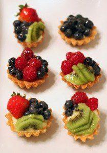 mini tartaletas de frutas variadas