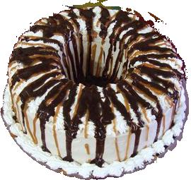 pastel en rosca milky way