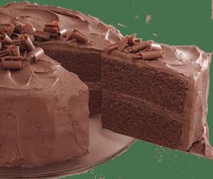 Rebanada de pastel de chocolate