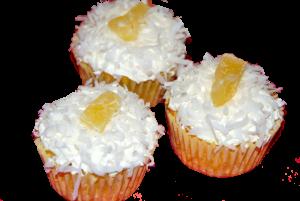 cupcakes piña colada con coco