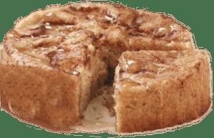 pastel redondo de manzana y canela