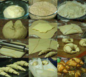 elaboración de croissants