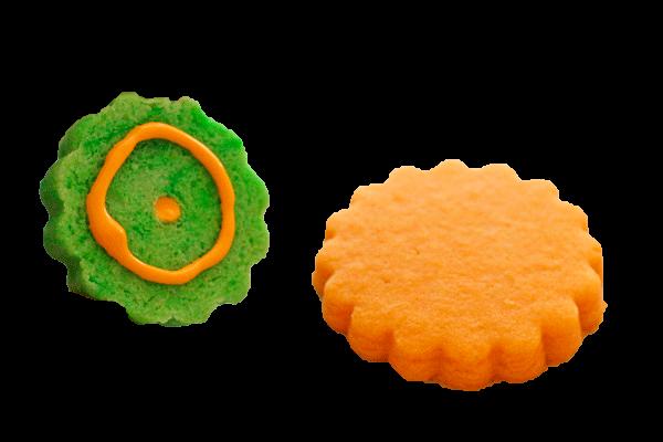 formación de la tapa de galletas 3D