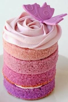 mini cakes tonalidades púrpura