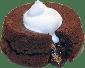 pastelito relleno de chocolate y crema