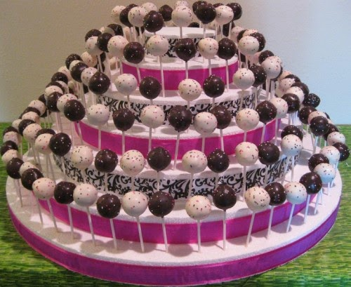 presentación de pop cakes