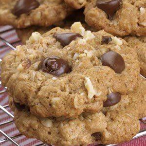 galletas de avena con chocolate