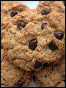galletas de avena con chispas de chocolate