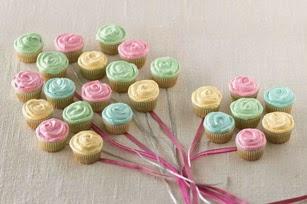 ramillete de cupcakes flores