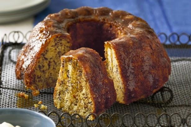 foto de pastel de platano con miel de naranja
