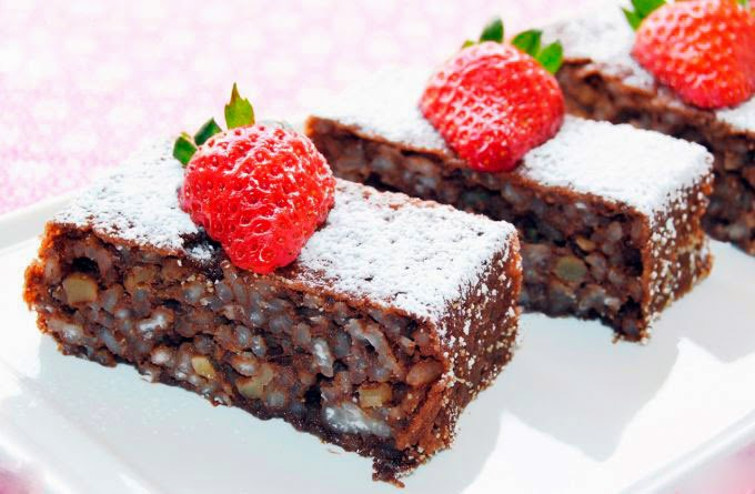 pastel de arroz chocolate