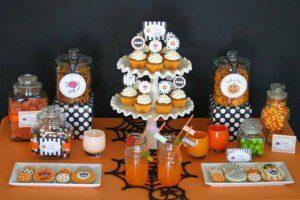 arreglo de mesa para halloween