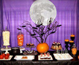 decoración de panecillos y dulces de halloween
