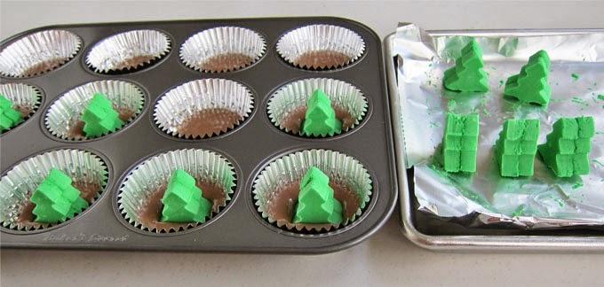 pinos en cupcakes