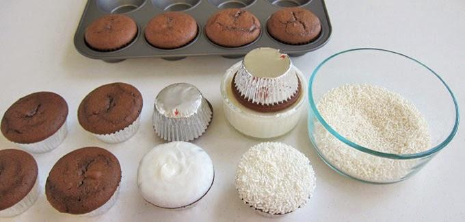cupcakes con betún blanco